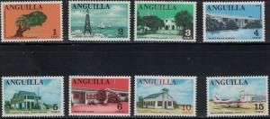 Anguilla SC17-31 MixedTopicals-LighthouseMahoganyTree-Plane-SpringLobserMNH '67