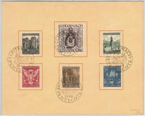 LUXEMBOURG - Postal History - Scott # B137/42 on SPECIAL FOLDER 1948