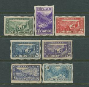 STAMP STATION PERTH Andorra #51A,56B,+ See below Definitive Issue  MLH CV$8.00