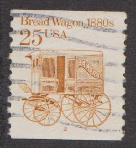 US #2136 Bread Wagon Used PNC Single plate #2