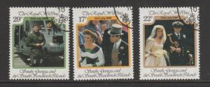 South Georgia 1986 Royal Wedding FU SG 158/60