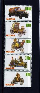 Naxcivan Republic 1997 Old Cars Strip (5) Perforated mnh.vf