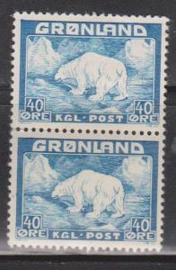 GREENLAND Scott # 8 Pair 1MNH & 1 MHR - Polar Bear