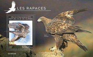 Z08 IMPERF GU190224b GUINEA (Guinee) 2019 Birds of prey MNH ** Postfrisch