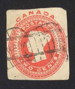 Canada Sc# U10 Used Cut Piece 1898 2¢ violet Postal Stationery