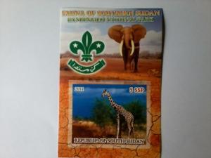 SOUTH SHEET IMPERF WILDLIFE GIRAFFES ELEPHANTS