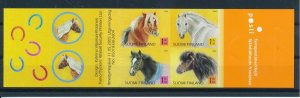 [I2658] Finland 2005 Horses good booklet very fine MNH