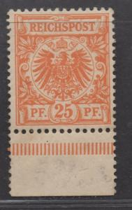 **Germany SC# 50 MNH, VF,  Bottom Margin Copy - Rare MNH