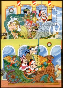 Dominica Disney Christmas SC# 1278-80  MNH S/S CH1
