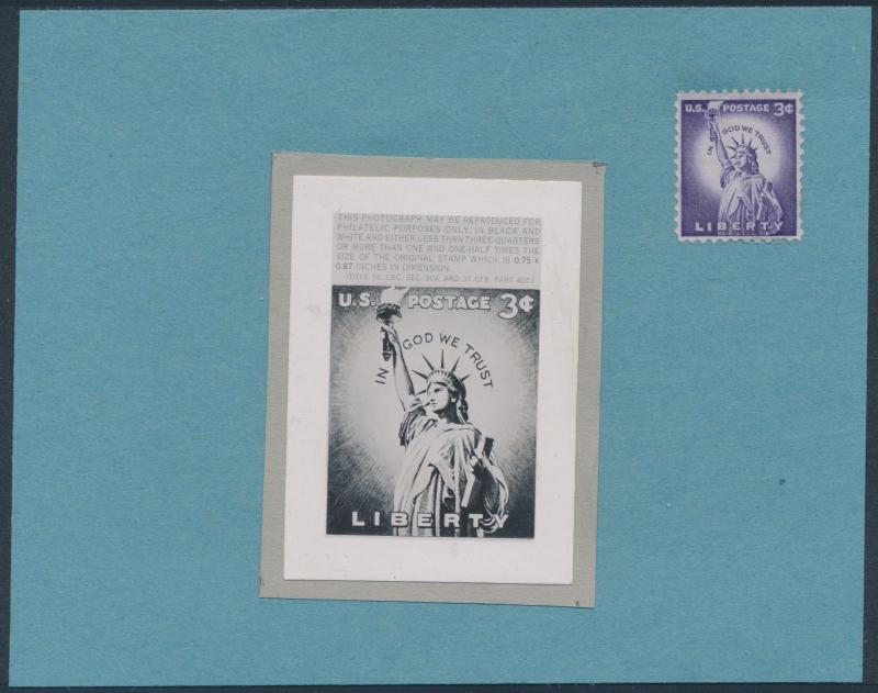#1035 LIBERTY PHOTO ESSAY OF STAMP BS3606