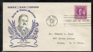 US #881-15A Herbert Holland cachet addressed