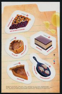 Canada 3177 Right Booklet Pane MNH Food, Sweet Canada Desserts
