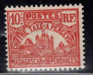Madagascar Scott J11 MH* Postage due stamp similar centering
