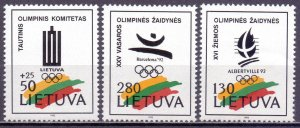 Lithuania. 1992. 496-98. Olympic Committee. MLH.