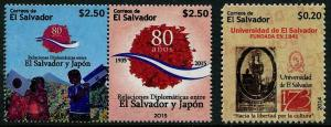 HERRICKSTAMP NEW ISSUES SALVADOR Friendship w/ Japan/National University