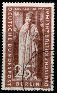 GERMANY BERLIN 1957 CULTURAL CONG. USED (VFU) SG B169 Wmk.294 P.14 SUPERB