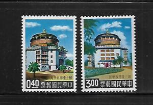 CHINA, 1243-1244, MINT HINGED, NATIONAL TAIWAN SCIENCE HALL