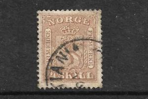 NORWAY  1863-66  24sk BRISTRE  FU  Sc 10  Sg 19