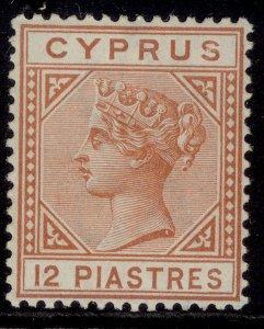 CYPRUS QV SG37, 12pi orange brown, LH MINT. Cat £190.