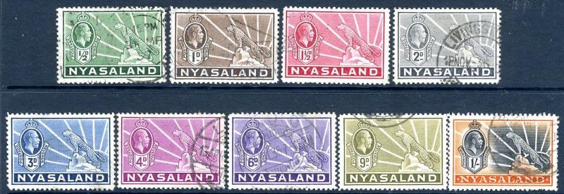 NYASALAND-1924-35 Set to 1/- Sg 114-122 FINE USED V14313