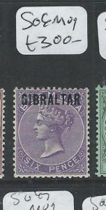 GIBRALTAR  (P2407B) QV 6D   SG 6  MOG