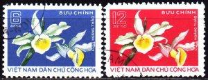 Vietnam. 1976. 841-42. Flowers, flora. USED.