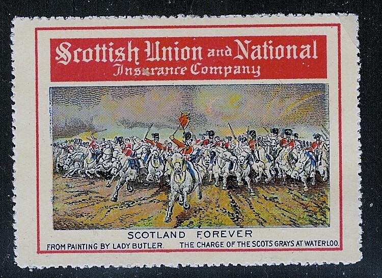 Scottish Union and National Insurance Co. 1915 SCOTLAND FOREVER Poster Stamp ...