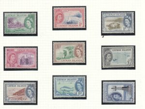 CAYMAN ISLANDS QE11 ISSUES TO 6d VF-MXLH