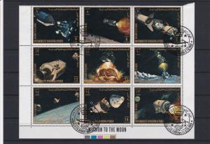 Kingdom of Yemen Mission to the Moon Space Stamps Sheet Ref 23742