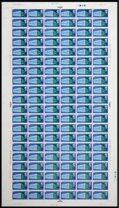 1969  Notable Anniversaries 9d Complete Sheet No dot UNMOUNTED MINT/MNH
