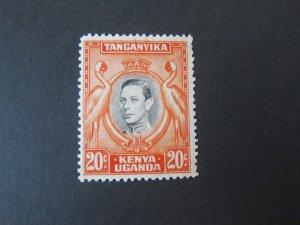 Kenya Uganda Tanganyika 1942 Sc 74 KGVI Bird MH