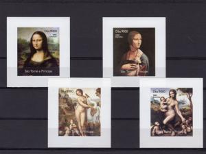 Sao Tome and Principe 2005 Leonardo da Vinci/Mona Lisa 4 SS Imperf.MNH