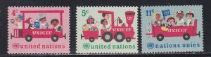 United Nations - New York # 161-163, UNICEF 20th Anniversary, LH