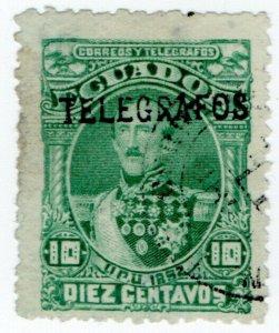 (I.B) Ecuador Telegraphs : Overprint 10c