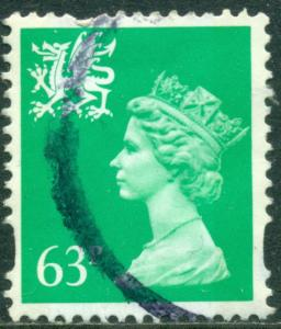 GREAT BRITAIN WALES SG-W78, SCOTT WMMH-65, USED, GREAT PRICE!