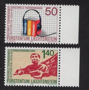 Liechtenstein  #886-887   MNH  1988  north and south campaign Costa Rica