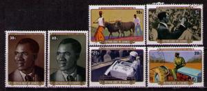 GUINEA Sc# 738 - 743 USED FVF Set6 Farmers Ox Plow