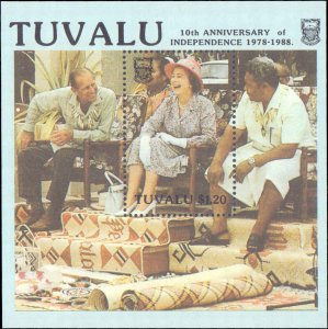 Tuvalu #507-510, 507a-510a, Complete Set(8), 1988, Royality, Never Hinged