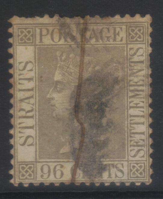 STRAITS SETTLEMENTS 1867-1872 CROWN CC SG19 USED CAT £55