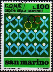 San Marino.1973 100L S.G.963 Fine Used