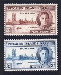 Pitcairn World War II Victory 2v MH SG#9-10 SC#9-10