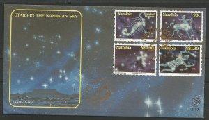 NAMIBIA, 1996, CTO, FDC, Constellations Scott 808-811