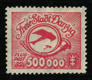 Germany 1923 Airmail - Posthorn and Airplane (4129-Т)