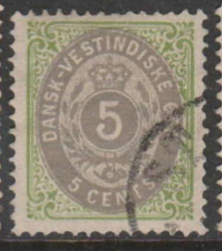 U.S. Scott #8a Danish West Indies - Cat $37.50 - Possession Stamp - Used Single