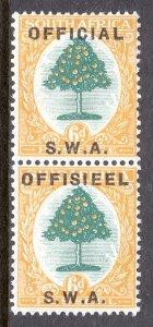 South West Africa - Scott #O7 - MH - SCV $4.50