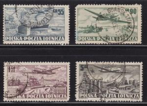 Poland # C28 - C31 , Plane over Industries , F-VF used set - I Combine S/H