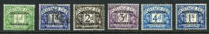 Southern Rhodesia SGD1/D5 and D7 set (no 4d grey-green) cat 35 pounds