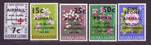 J22707 Jlstamps 1966 sierra leone set mnh #c56-60 ovpt,s