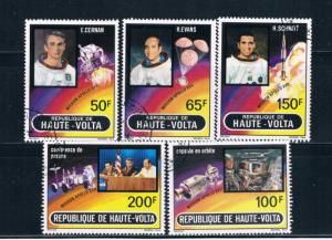 Upper Volta 289-93 Used set Apollo 17 Moon Mission 1973 (U0335)