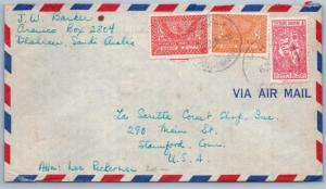 Goldpath: Saudi Arabia cover, 1955, To Stanford CT USA, CBHW_07_05